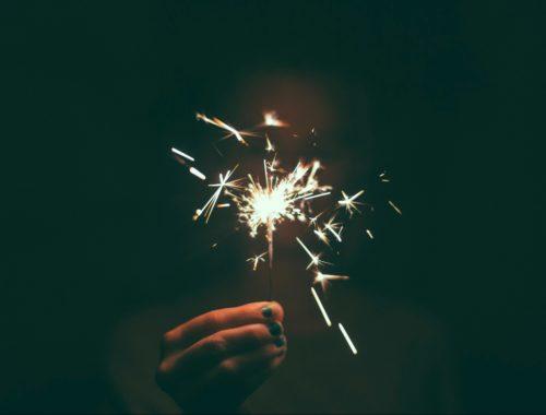 Wunderkerze neues Jahr neues Glück