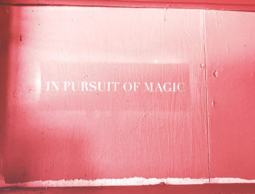 Magic Quote in front of pink background